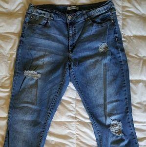 Refuge skinny destressed jeans